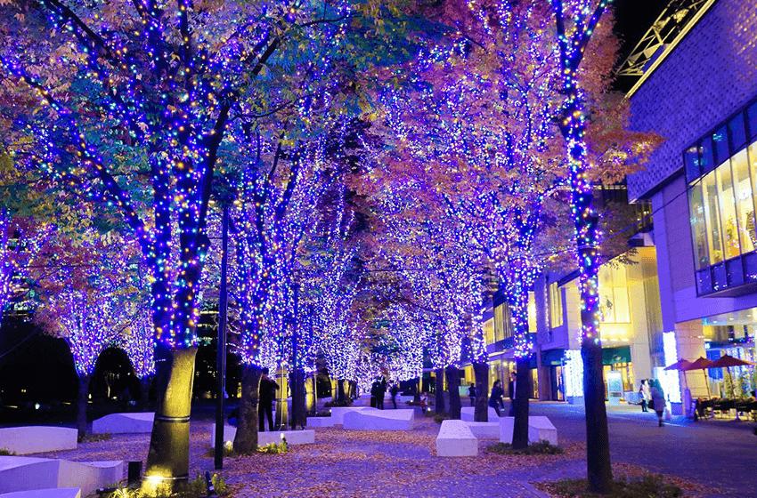Christmas Lights And Winter Illuminations In Yokohama 2017
