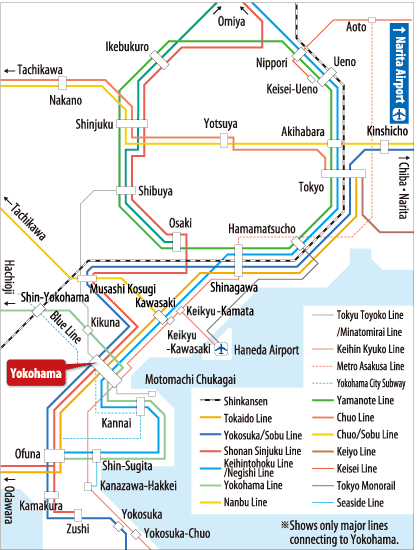 Yokohama Subway Map.Travel To Yokohama Travel Info Yokohama Official Visitors Guide Travel Guide To Yokohama City