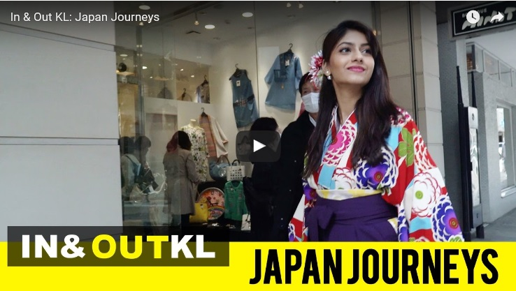 "Presentando el episodio de Yokohama en la televisión de Malasia ""In & Out KL: Japan Journeys"""