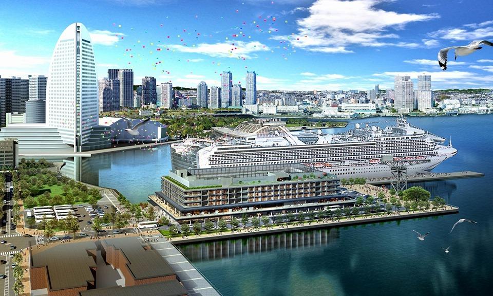 """Le nouveau complexe de terminaux de croisière """"Yokohama""""Hammerhead"""" ouvrant ses portes en octobre 2019!"""