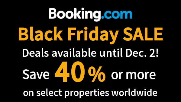 Booking.com BLACK FRIDAY SALE begins!