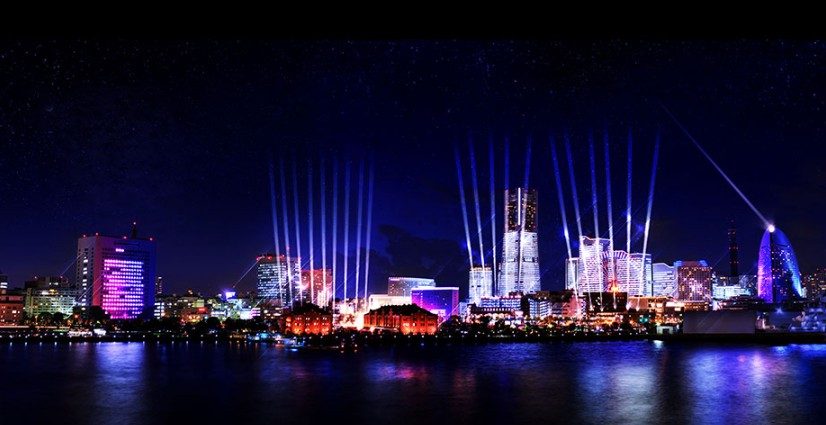 Christmas Lights and Winter Illuminations in Yokohama 2017